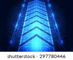abstract vector digital future... | Shutterstock .eps vector #297780446