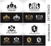 luxury crest ornamental logo... | Shutterstock .eps vector #297783425