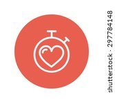 heart time thin line icon for... | Shutterstock .eps vector #297784148