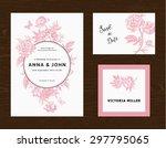 wedding set. menu  save the... | Shutterstock .eps vector #297795065