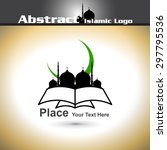 islamic logo with shiny color... | Shutterstock .eps vector #297795536