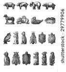Vintage chocolate mold sketches ...