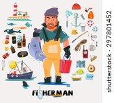 Fisherman With Big Fish In Han...