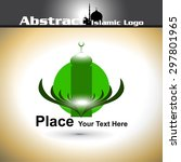 islamic logo with shiny color... | Shutterstock .eps vector #297801965
