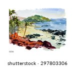 vector watercolor illustration...   Shutterstock .eps vector #297803306