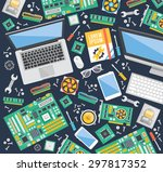 computer service and repair... | Shutterstock .eps vector #297817352