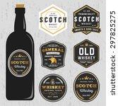 vintage premium whiskey brands... | Shutterstock .eps vector #297825275