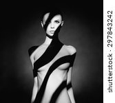 fashion art studio portrait of... | Shutterstock . vector #297843242