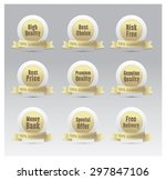 set of golden vector badges | Shutterstock .eps vector #297847106