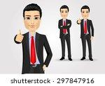 illustration of business man... | Shutterstock .eps vector #297847916