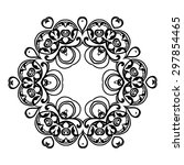 ornament black white card with... | Shutterstock .eps vector #297854465