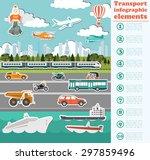 transport infographics elements.... | Shutterstock .eps vector #297859496