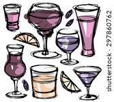 doodle set of different hand... | Shutterstock .eps vector #297860762