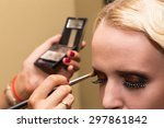 work of make up artist. makeup... | Shutterstock . vector #297861842