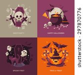 Постер, плакат: Set of Halloween Concepts
