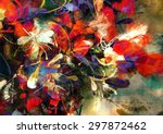 digital painting of abstract... | Shutterstock . vector #297872462