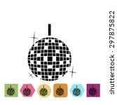 disco ball icon   Shutterstock .eps vector #297875822