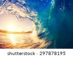sunrise wave  tropical island... | Shutterstock . vector #297878195