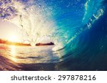 sunrise wave  tropical island... | Shutterstock . vector #297878216