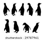penguin silhouettes | Shutterstock .eps vector #29787961