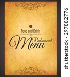 restaurant menu design. vector... | Shutterstock .eps vector #297882776