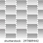 halftone monochrome geometric... | Shutterstock .eps vector #297889442