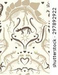 elegant ornate dinosaur...   Shutterstock .eps vector #297892922