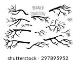 hand drawn tree branches... | Shutterstock .eps vector #297895952