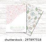 floral banner in vintage style. ... | Shutterstock .eps vector #297897518