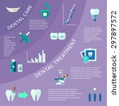 dental care and treatment with... | Shutterstock .eps vector #297897572