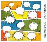 blank comic speech and sound... | Shutterstock .eps vector #297898685