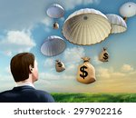 businessman looking at some... | Shutterstock . vector #297902216