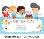 happy birthday  for kids.    Shutterstock .eps vector #297902936