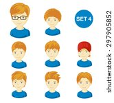 illustrations of little boys... | Shutterstock .eps vector #297905852
