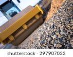 steamroller on a construction... | Shutterstock . vector #297907022