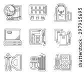 flat linear vector icons set... | Shutterstock .eps vector #297915695