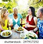 friends friendship outdoor... | Shutterstock . vector #297917252