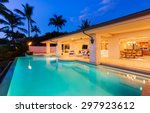 beautiful luxury home with...   Shutterstock . vector #297923612