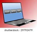 computer with spam button on... | Shutterstock .eps vector #29792479