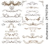vector set of calligraphic... | Shutterstock .eps vector #297937346