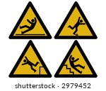 caution signs figures falling... | Shutterstock .eps vector #2979452