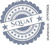 squat rubber grunge stamp | Shutterstock .eps vector #297955826