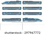 high speed train kit | Shutterstock . vector #297967772