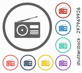 radio icon | Shutterstock .eps vector #297969926