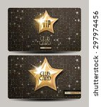 vip club cards on the disco... | Shutterstock .eps vector #297974456