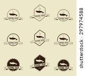 fishing symbols set  vector | Shutterstock .eps vector #297974588