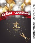 grand opening card with...   Shutterstock .eps vector #297974678
