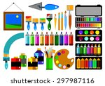 color paint brush vector... | Shutterstock .eps vector #297987116