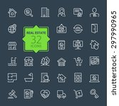 outline web icons set   real... | Shutterstock .eps vector #297990965