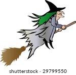 halloween witch   vector | Shutterstock .eps vector #29799550